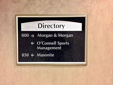 Custom Indoor Engraved Directory with Etched Vinyl Graphic