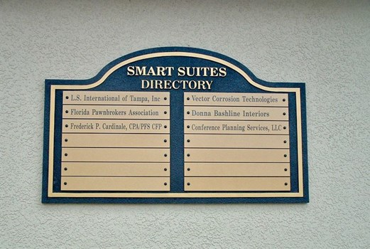 Custom Directory & Wayfinding Sign with Changeable Panels  in North Tampa